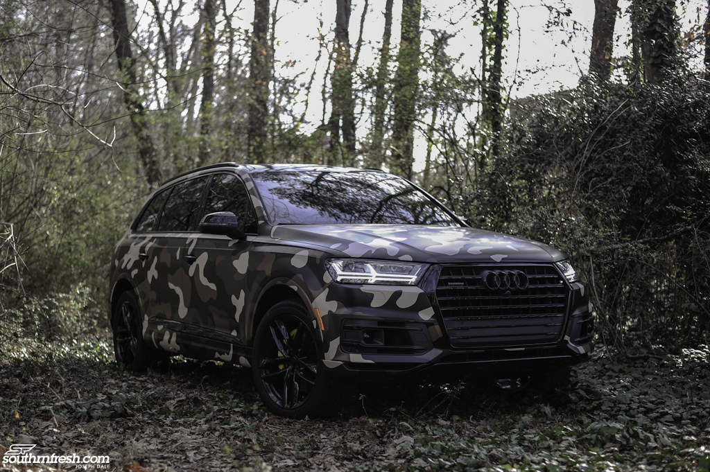 quick shots camouflage  audi  southrnfresh